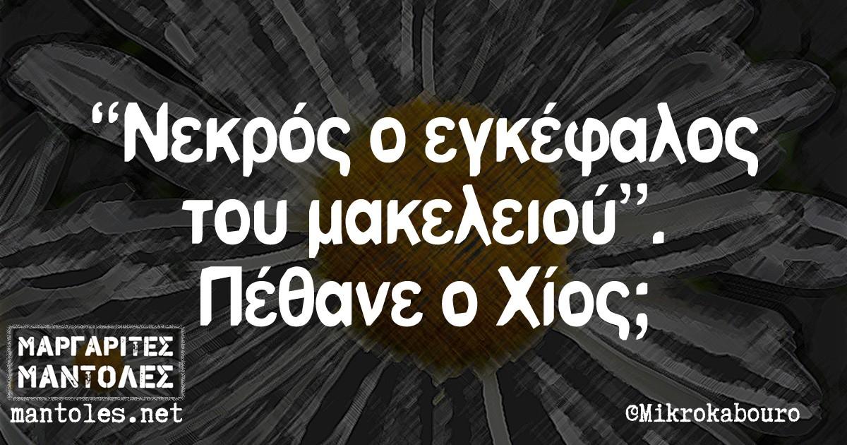 """""""Νεκρός ο εγκέφαλος του μακελειού"""". Πέθανε ο Χίος;"""
