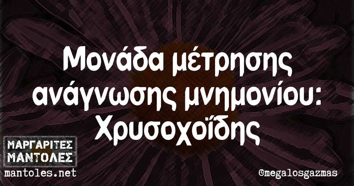 Μονάδα μέτρησης ανάγνωσης μνημονίου: Χρυσοχοΐδης